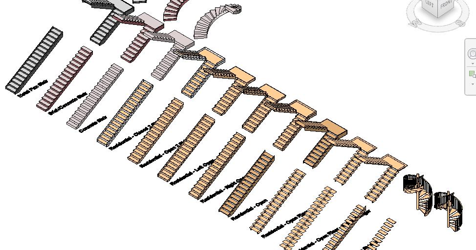 Escaleras pack de 12 materiales rfa arquihoy revit - Materiales para escaleras ...