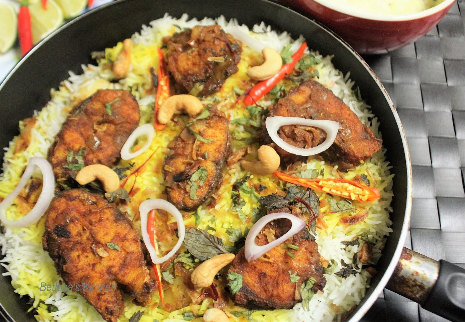 Bethica's Kitchen Flavours: Fish Dum Biryani - Bengali Style