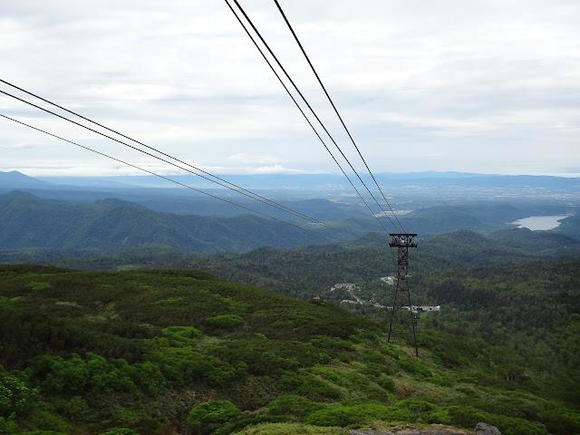 Vistas desde el teleférico del monte Asahidake en Hokkaido