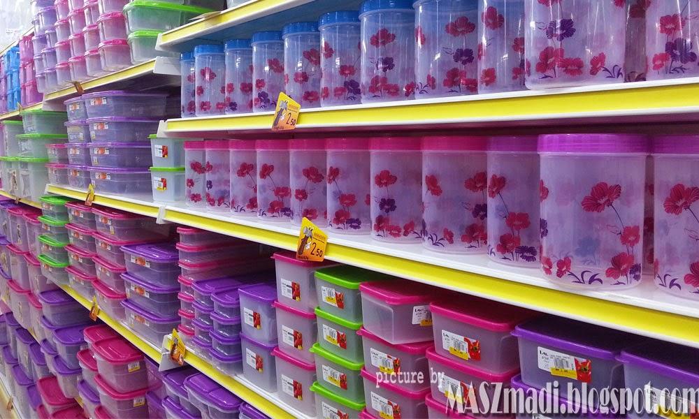 Balang Plastik Warna Warni Pelbagai Saiz Jugak