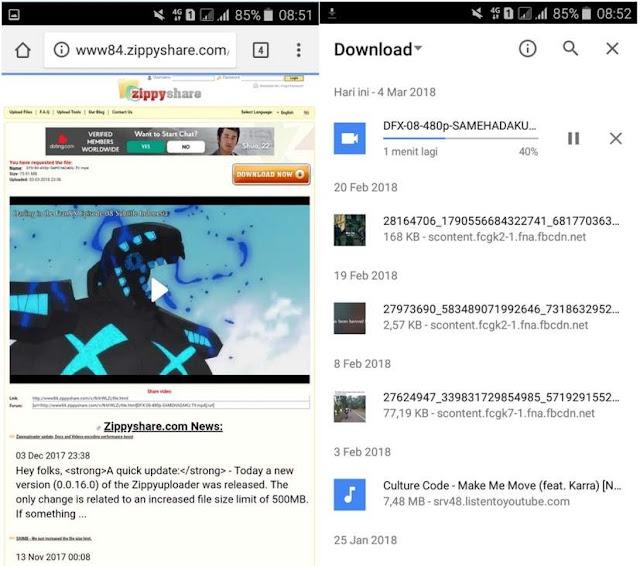 Cara Mudah Download Anime di Samehadaku via Android