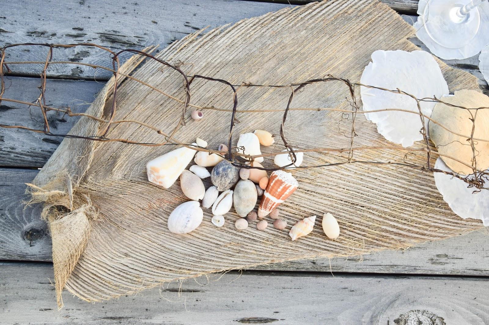 tischdeko tischdekoration muscheln maritim natur tischset natürlich sommerdeko sommertisch dekoidee