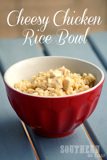 Low Fat Healthy Cheesy Chicken Brown Rice Bowl