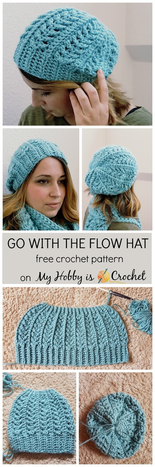 My Hobby Is Crochet Go With The Flow Hat Free Crochet Pattern
