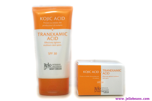 Belo Intensive Whitening Body Cream and Belo Intensive Whitening Face and Neck Cream