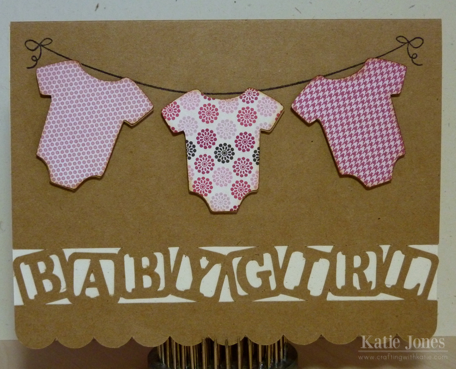 crafting with katie Baby Girl Card
