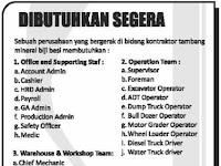 Lowongan Kerja Perusahaan bidang Kontraktor Tambang Mineral Biji Besi