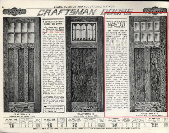 1912 Sears building supplies catalog Craftsman doors