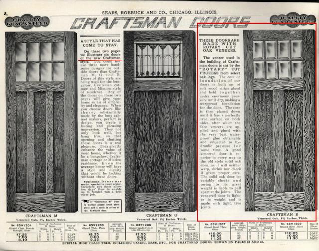 1912 Sears building supplies catalog Craftsman doors
