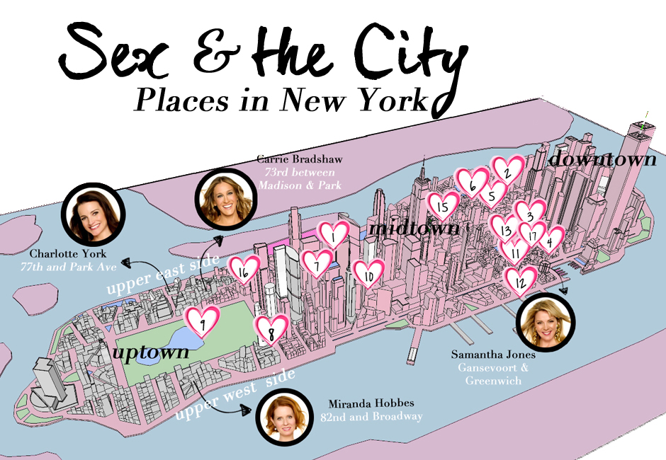 Sex and the city tour guide