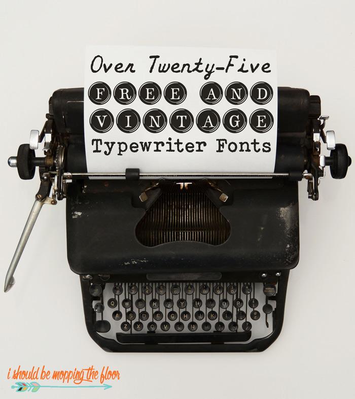 Typewriter Font Downloads