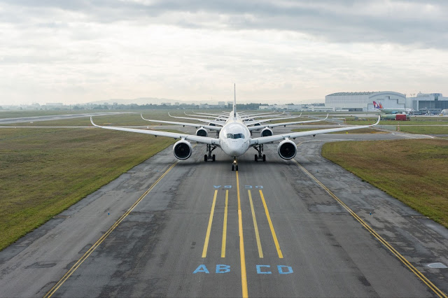 Airbus A350-900 XWB Lined Up Runway