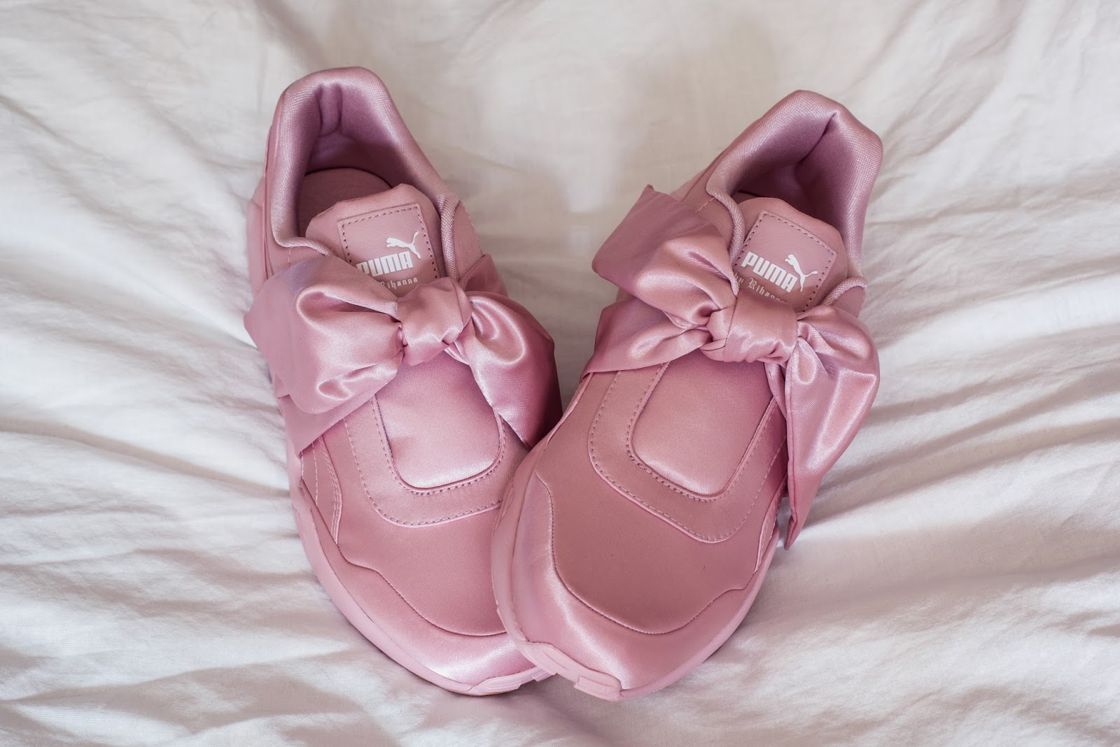 Fenty Puma Rihanna Pink Bow Sneakers | Rose Kiara Peaches