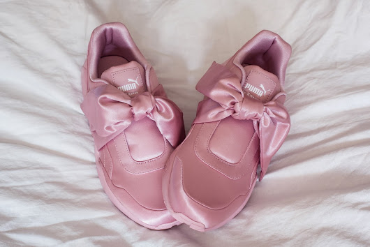 Rose Kiara Peaches: SPRING SHOES: FENTY PUMA PINK BOW SNEAKERS