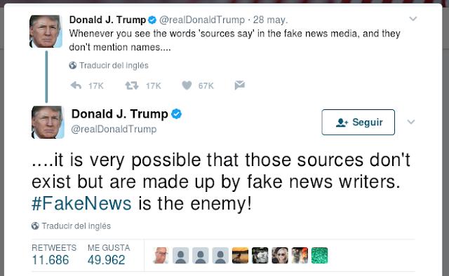Donald Trump cargó contra la prensa en su cuenta de Twitter