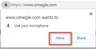 Allow Microphone on Chrome to use for Omegle