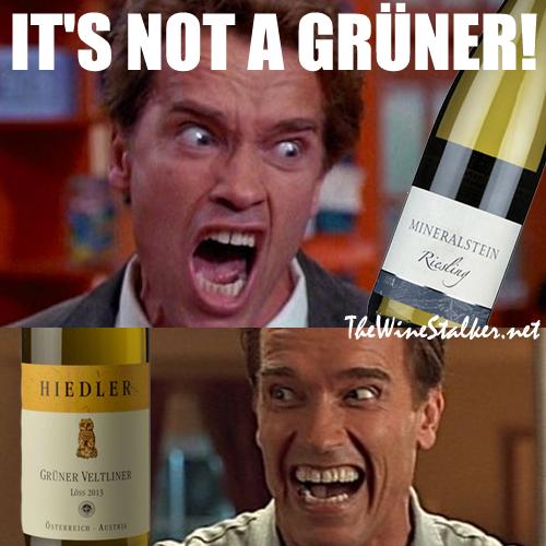Angry Arnold on Grüner Veltliner