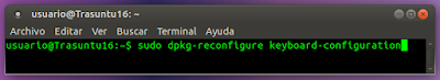 sudo dpkg-reconfigure keyboard-configuration