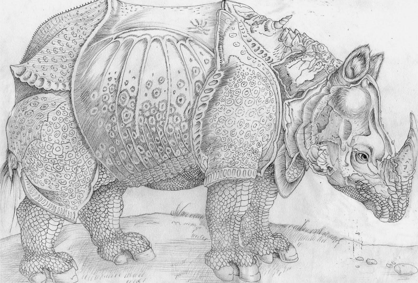 "1111192934 Digital Portfolio Albrecht Dürer ""Rhinoceros"""