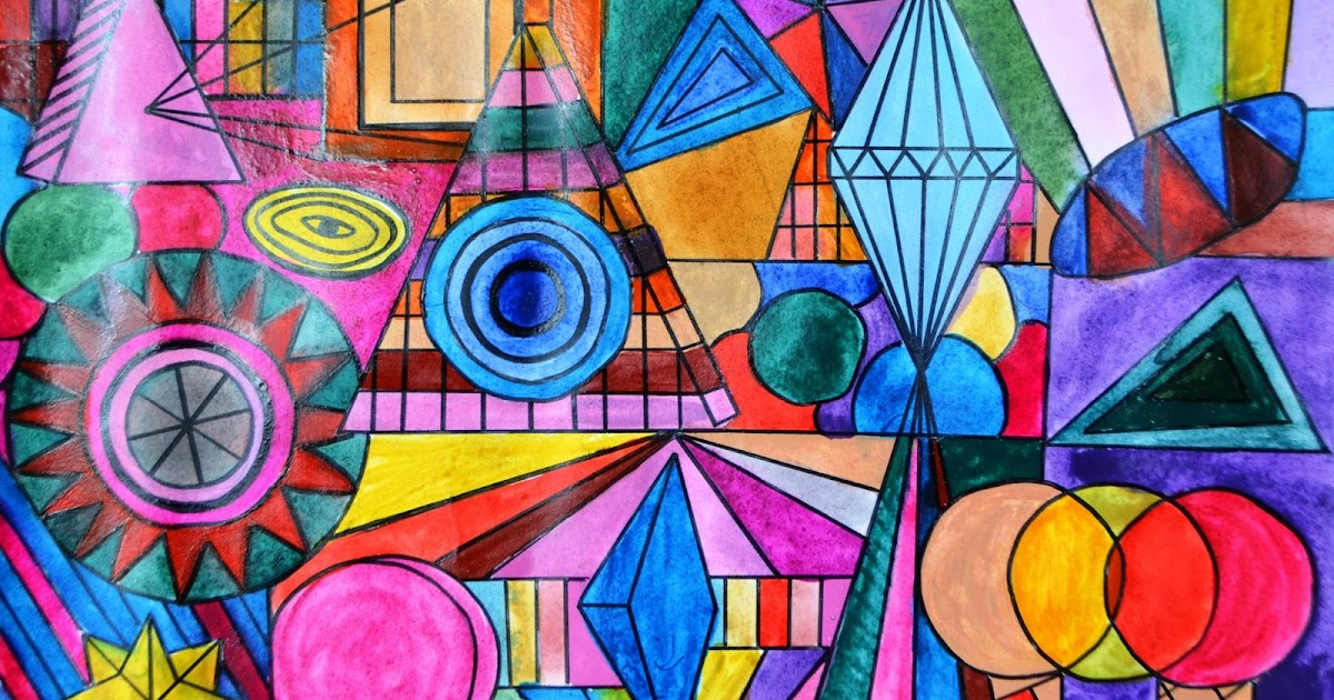 Абстрактные картинки с геометрическими фигурами