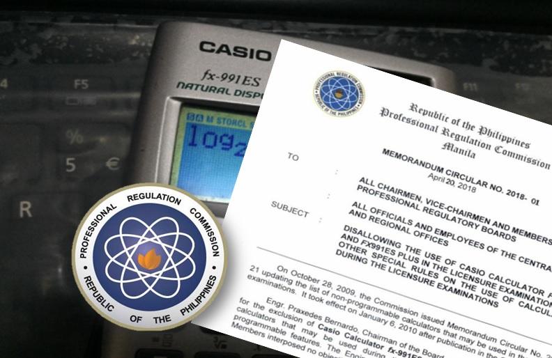 PRC disallows use of Casio Calculator FX-991ES, FX-991ES PLUS in board exam