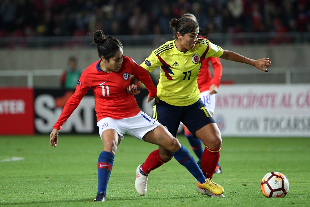 Colombia y Chile en Copa América Femenina 2018, 19 de abril