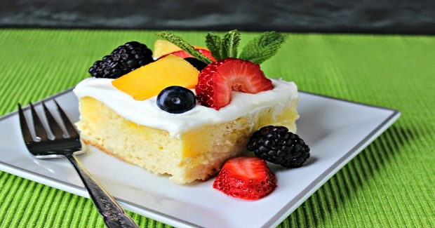 Skinny Tres Leches Poke Cake Recipe