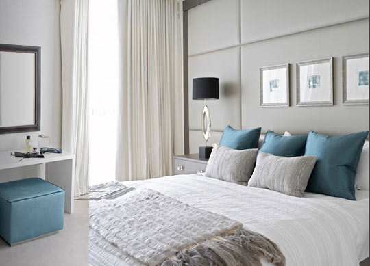 LivLuvDesign Color Palette Gray and Turquoise Bedrooms
