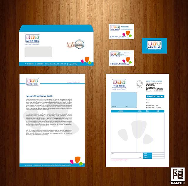 kurumsal kimlik tasarımı fatura antetli kağıt