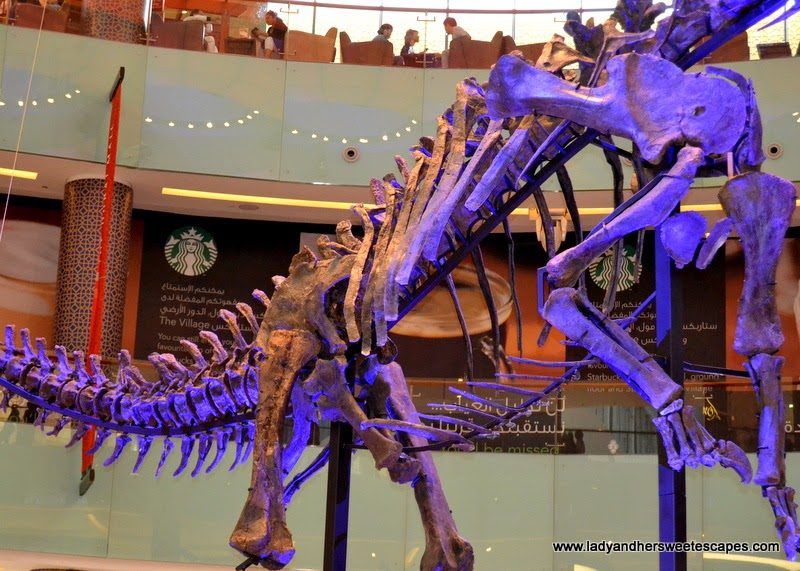The Dubai Mall Dinosaur exhibit