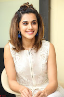 Taapsee Pannu in cream Sleeveless Kurti and Leggings at interview about Anando hma ~  Exclusive Celebrities Galleries 006.JPG