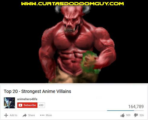Top 20 - Vilões mais fortes dos animes