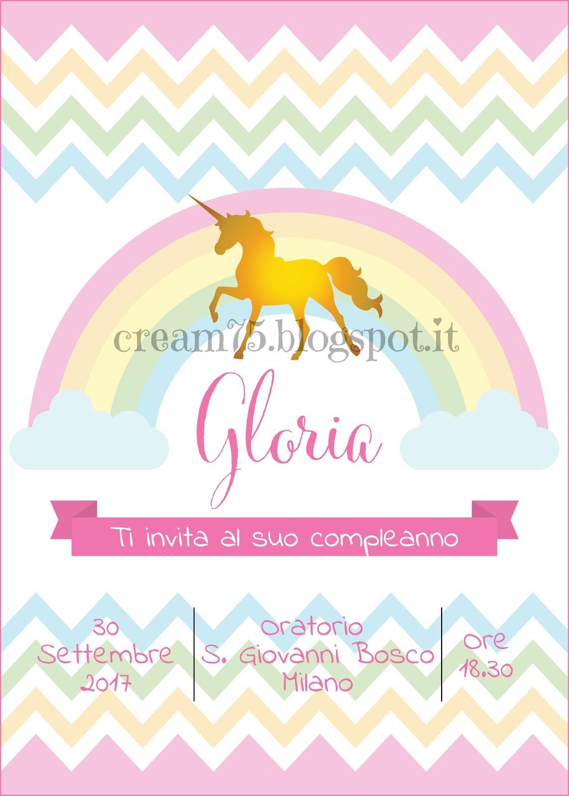My Sweet Blog Invito Digitale Di Compleanno Con Unicorno