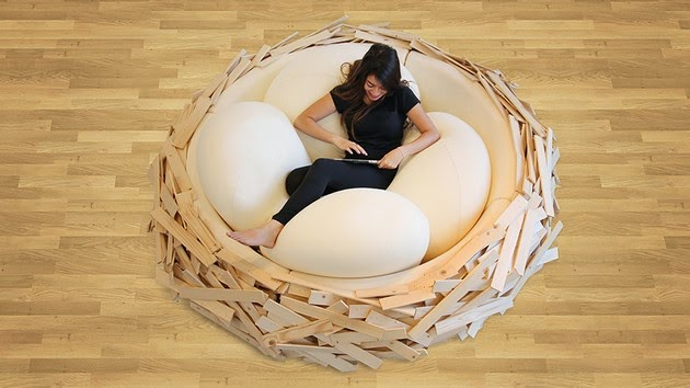 human sized bird nest, Design