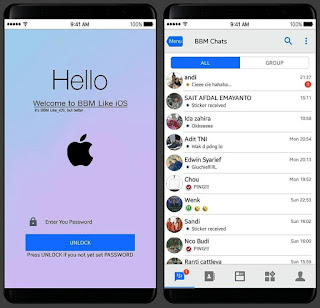 BBM Mod Style Theme iPhone Versi v3.3.2.31
