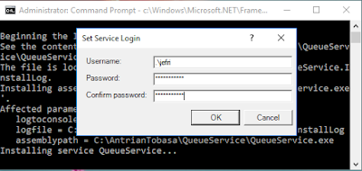 QueueService Set Service login
