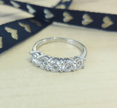 Half Eternity Band at Duets Fine Jewelry on Etsy