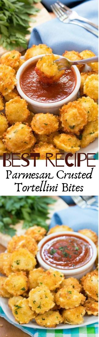 Parmesan Crusted Tortellini Bites #vegan #recipevegetarian