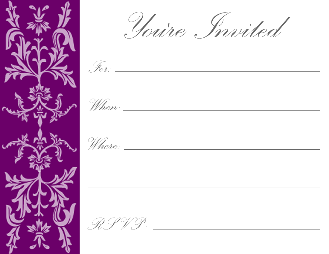 Printable Invitations – Free Birthday Template Invitations