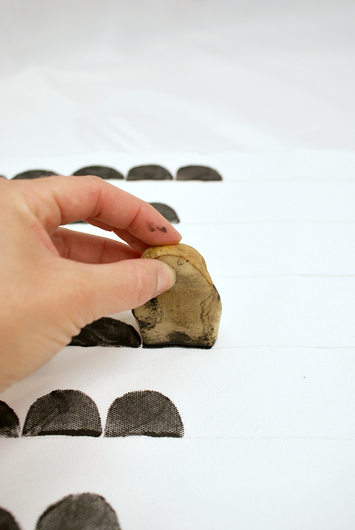 How to Make a Ferm Living Inspired Potato Stamp Pillow