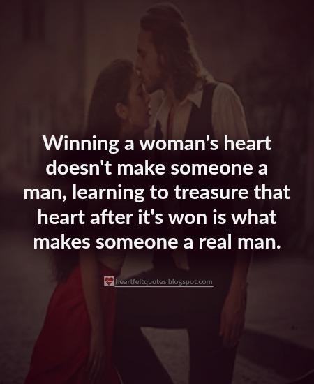 Winning A Woman's Heart Doesn't Make Someone A Man
