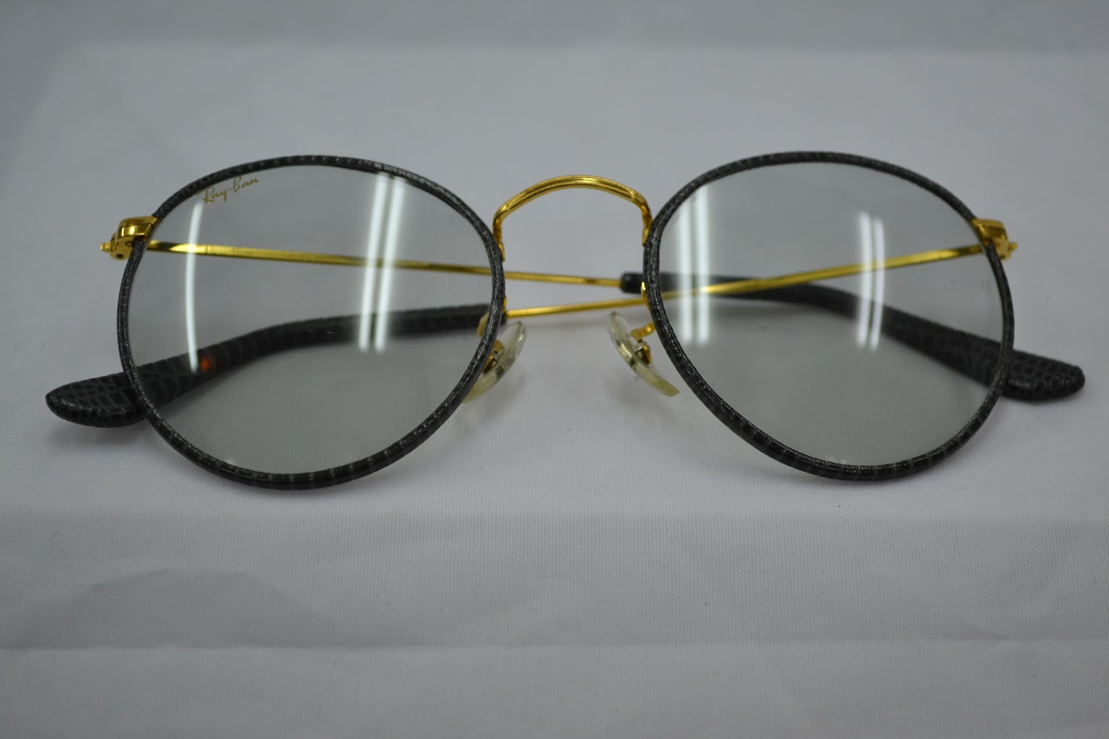 6d72b30d335 Vintage sunglass  Vintage Ray Ban Round leather! changeable lens!!