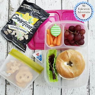Lunch Box Fun 2015-16: Weeks #29-51 Bagel and cream cheese in @easylunchboxes #lunchboxfun