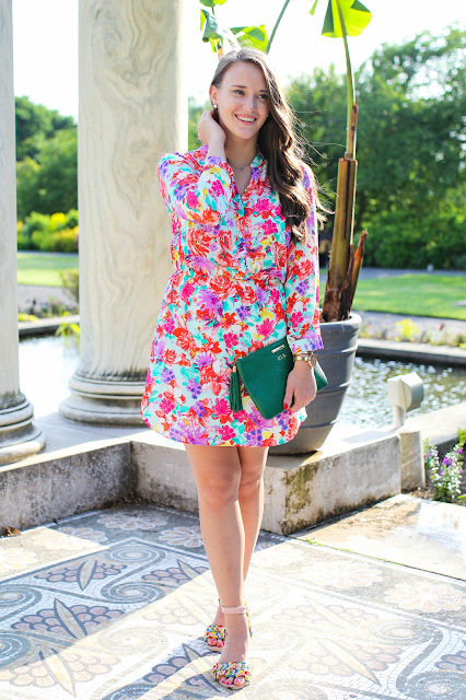 Charles Henry Floral Shirtdress, Shirtdress