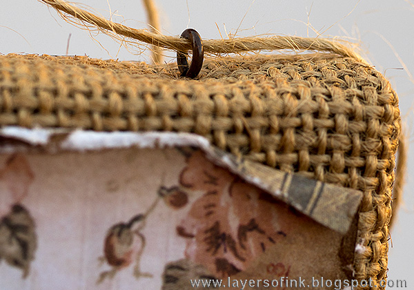 Layers of ink - Layered Vintage Burlap Canvas by Anna-Karin