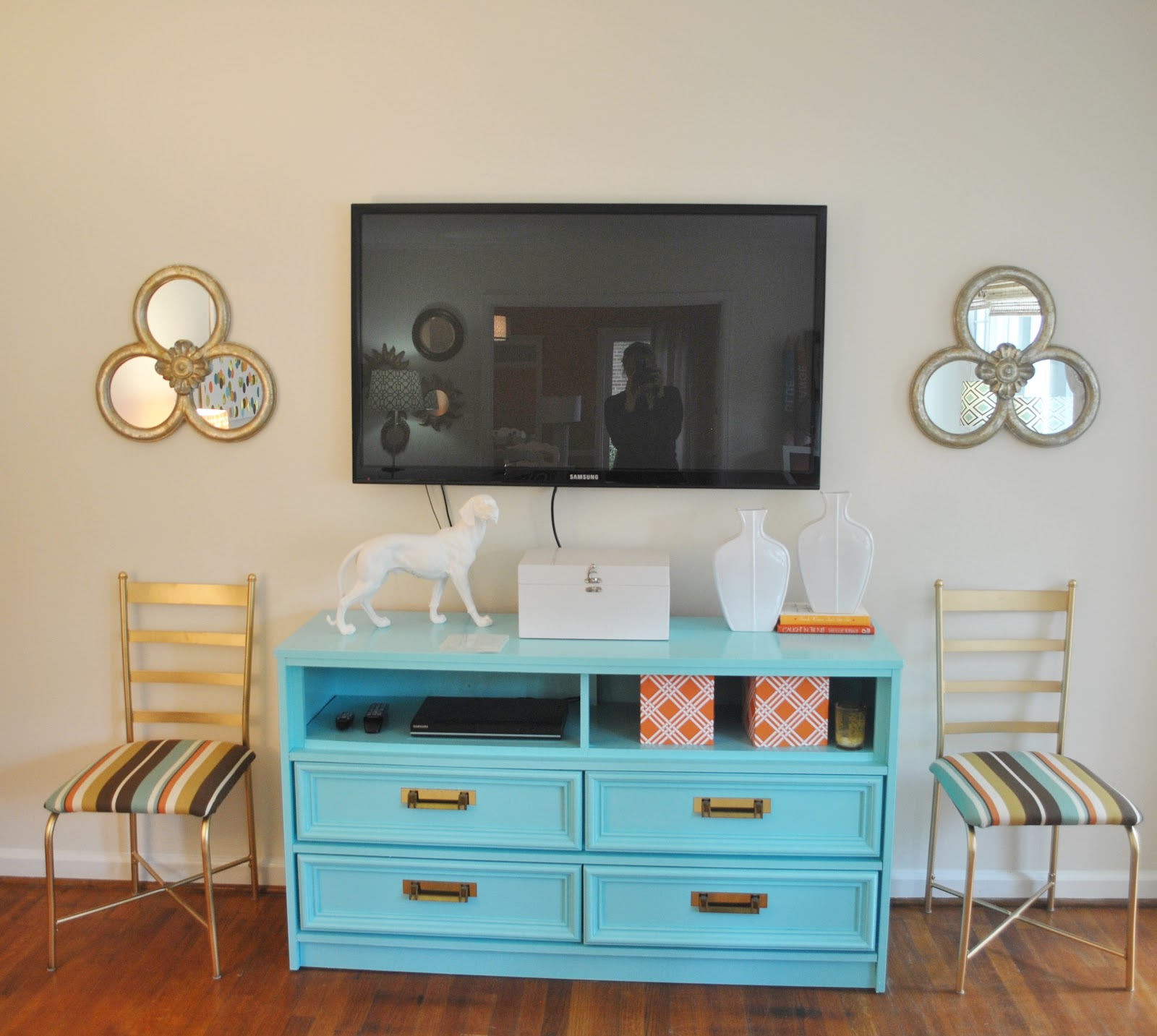 Dining Room Orange: House Tour: Orange & Blue On Drake