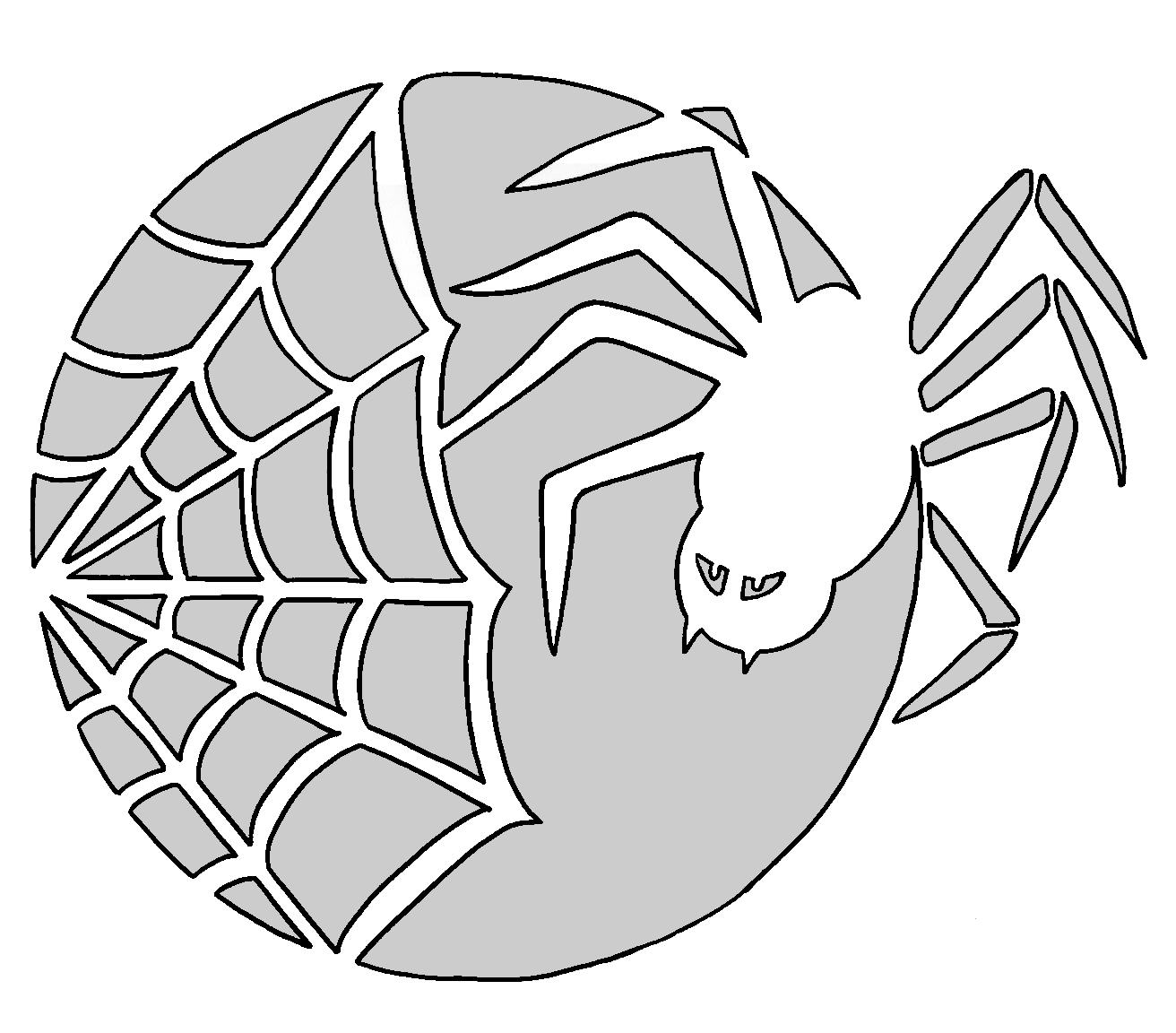 Free printable Spider halloween pumpkin carving pattern designs ...