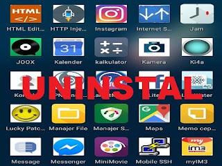Cara yang benar menghapus atau uninstall aplikasi di android