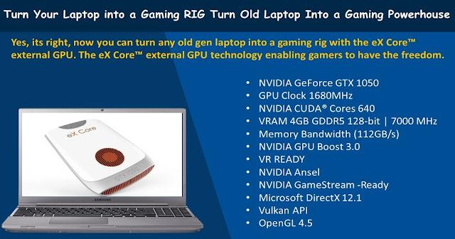 Turn Old Laptop into a Gaming RIG | exklim eX Core™ external GPU