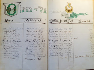 "A handwritten list with the header ""Class of '78."""
